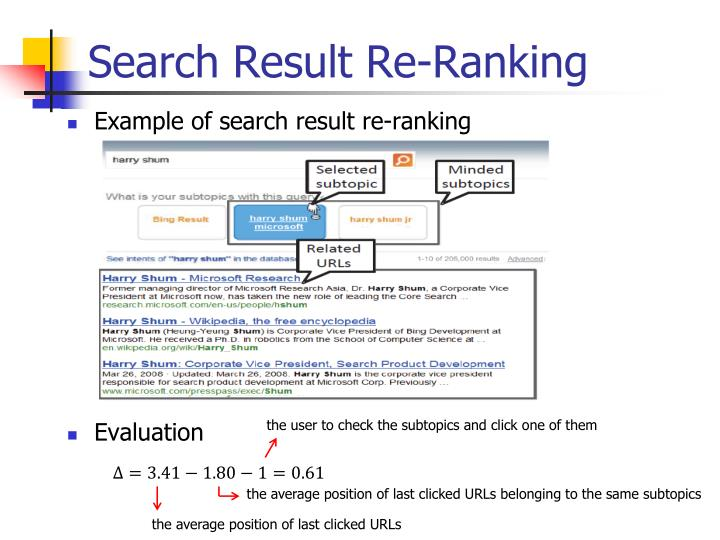 Search Result Re-Ranking