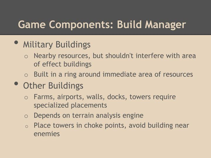 Game Components: Build Manager