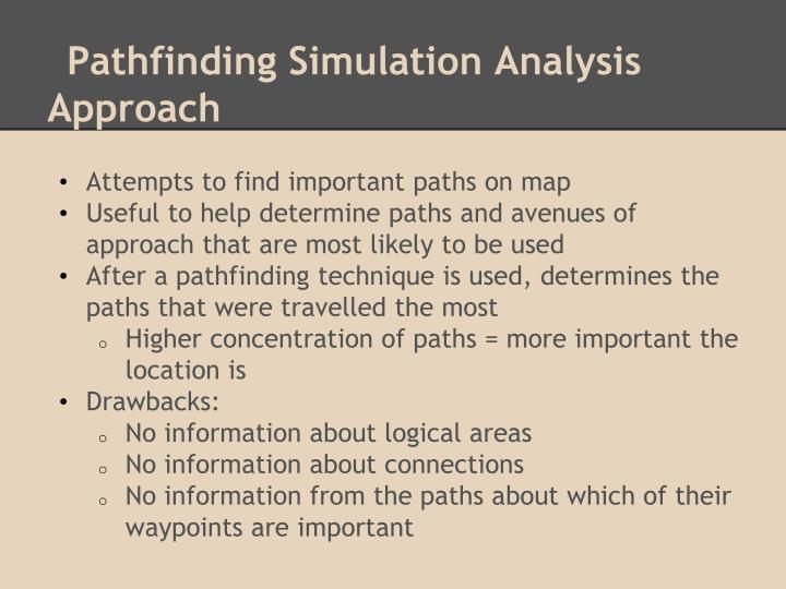 Pathfinding Simulation Analysis Approach