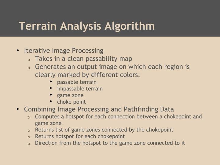 Terrain Analysis Algorithm