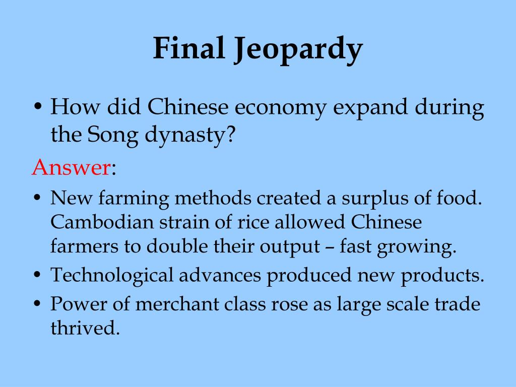 PPT - Ancient China Review Jeopardy PowerPoint Presentation