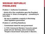 weimar republic problems