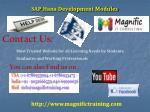 sap hana development modules