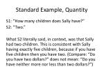 standard example quantity