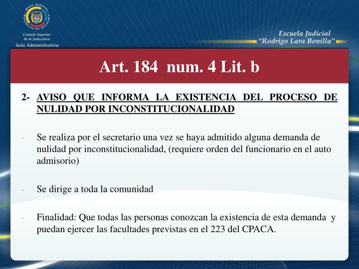 Art. 184