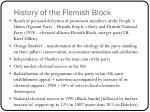 history of the flemish block
