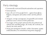 party ideology