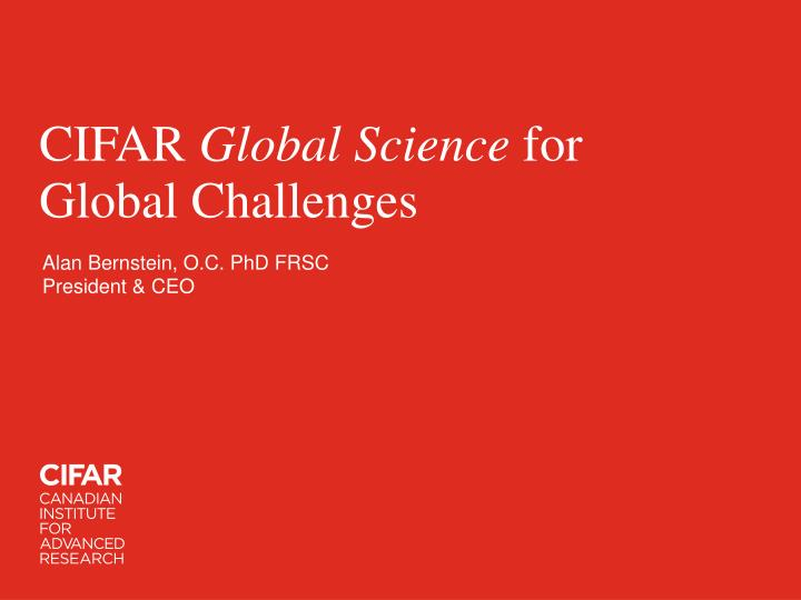 cifar global science for global challenges n.