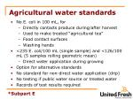 agricultural water standards