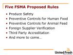 five fsma proposed rules