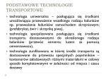 podstawowe technologie transportowe