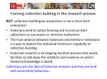 framing collection building in the research process2