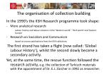 the organisation of collection building2
