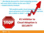 1 inhibitor to cloud adoption is security