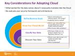 key considerations for adopting cloud