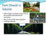 park oliwski in gda sk