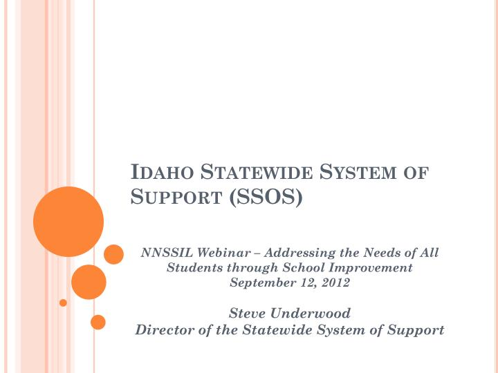 idaho statewide system of support ssos n.