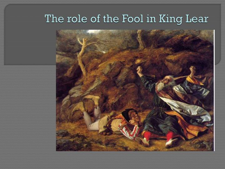 the role of the fool in king lear n.