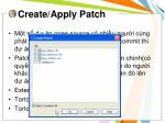 create apply patch