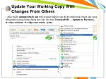 update your working copy with changes from others3