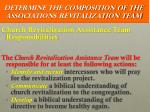 determine the composition of the associations revitalization team14