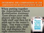 determine the composition of the associations revitalization team2
