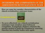 determine the composition of the associations revitalization team5