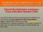 determine the composition of the associations revitalization team8