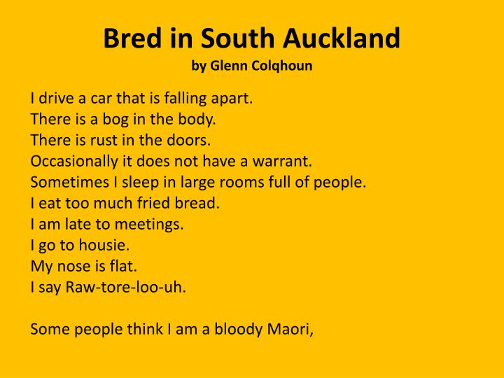 bred in south auckland by glenn colqhoun n.