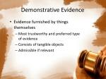 demonstrative evidence