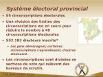 syst me lectoral provincial