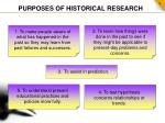 purposes of historical research