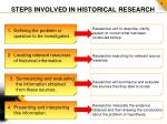 steps involved in historical research