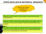 steps involved in historical research1