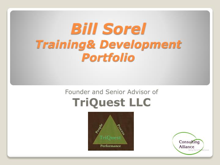 bill sorel training development portfolio n.