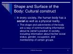 shape and surface of the body cultural construct