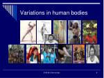 variations in human bodies