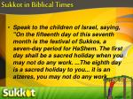 sukkot in biblical times