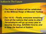 sukkot in the future