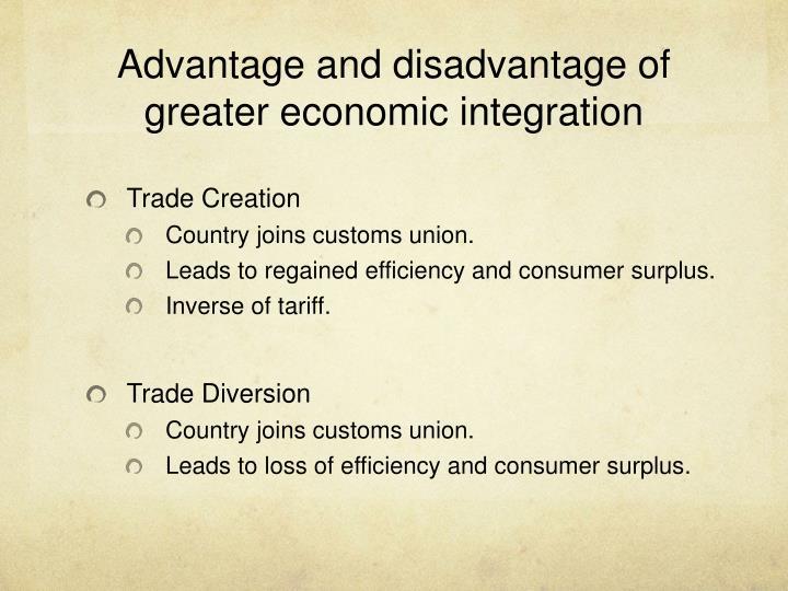 custom union disadvantages
