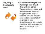 easy drag drop website editor