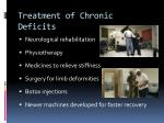 treatment of chronic deficits
