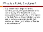 what is a public employee