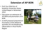 extension of ap bon