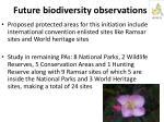 future biodiversity observations