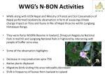 wwg s n bon activities
