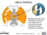 hbd in phenix