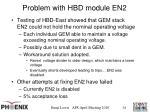 problem with hbd module en2