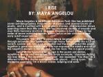 i rise by maya angelou