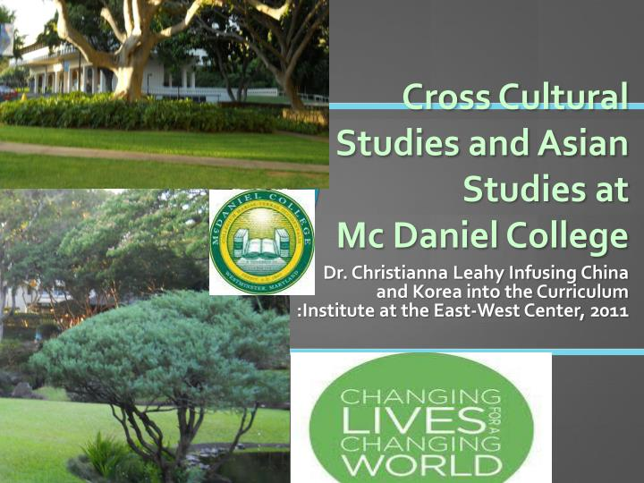 cross cultural studies and asian studies at mc daniel college n.